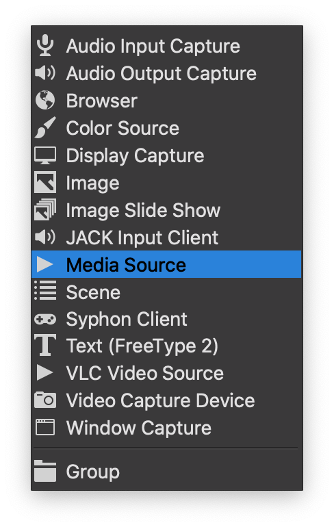 Media Source Option